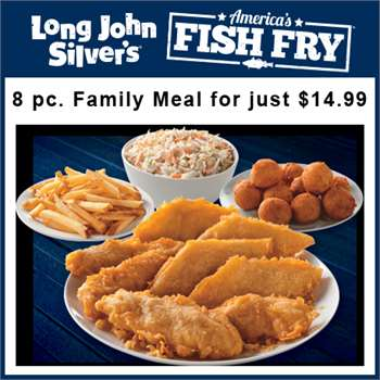 $ - 2pc Fish Combo - Long John Silvers. Enjoy a tasty meal from Long John Silvers and save. Act now and save on a 2 Pc. Fish Combo For Just $!! Offer .
